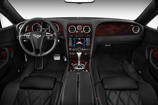 AUT 30 IZ0983 01 © Kimball Stock 2010 Bentley Continental GT Speed White Interior Detail Studio