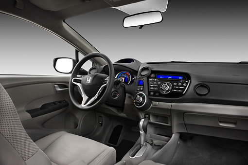 AUT 30 IZ1093 01 © Kimball Stock 2011 Honda Insight Silver Interior Detail Studio