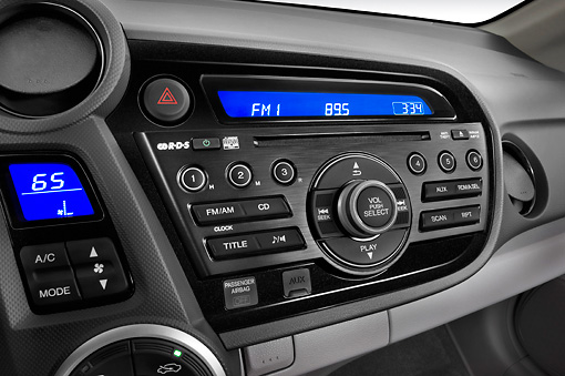 AUT 30 IZ1097 01 © Kimball Stock 2011 Honda Insight Silver Interior Detail Studio