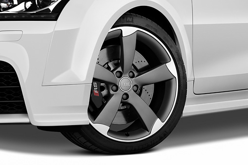 AUT 30 IZ1129 01 © Kimball Stock 2011 Audi TT RS Convertible White Front Wheel Studio