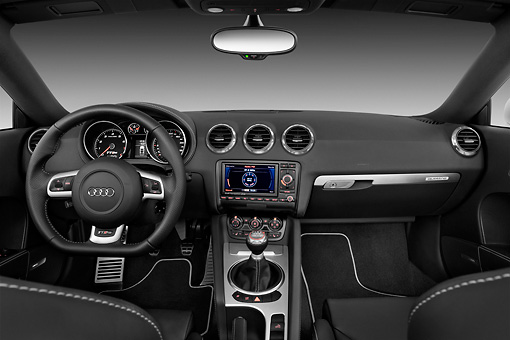 AUT 30 IZ1131 01 © Kimball Stock 2013 Audi TT RS Convertible White Interior Detail Studio
