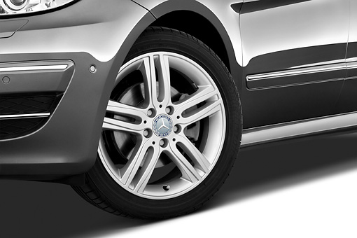 AUT 30 IZ1134 01 © Kimball Stock 2011 Mercedes-Benz B Class Front Wheel Detail Studio