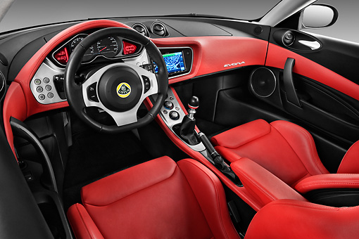 AUT 30 IZ1170 01 © Kimball Stock 2013 Lotus Evora Interior Detail In Studio