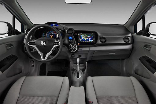 AUT 30 IZ1222 01 © Kimball Stock 2011 Honda Insight EX-L Blue Interior Detail Studio