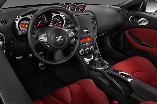 AUT 30 IZ1249 01 © Kimball Stock 2012 Nissan 370Z 40th Anniversary Edition Coupe Graphite Interior Detail Studio
