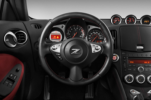 AUT 30 IZ1251 01 © Kimball Stock 2012 Nissan 370Z 40th Anniversary Edition Coupe Graphite Interior Detail Studio