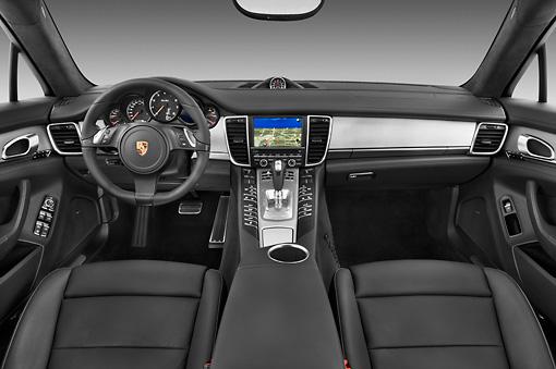 aut 30 iz1277 01 kimball stock 2013 porsche panamera turbo white interior detail in studio