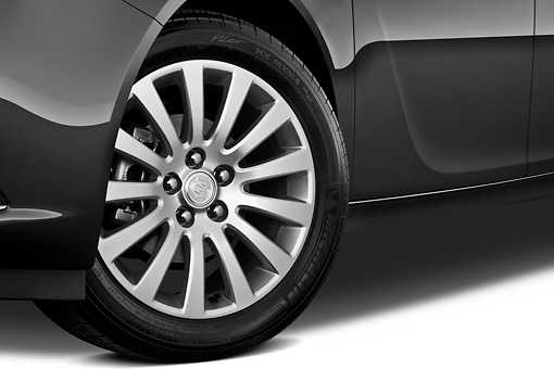 AUT 30 IZ1283 01 © Kimball Stock 2013 Buick Regal CXL Sedan Gray Front Wheel Detail