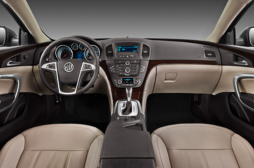 AUT 30 IZ1284 01 © Kimball Stock 2013 Buick Regal CXL Sedan Gray Interior Detail