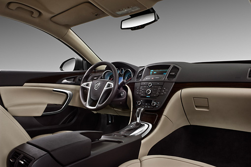 AUT 30 IZ1285 01 © Kimball Stock 2013 Buick Regal CXL Sedan Gray Interior Detail