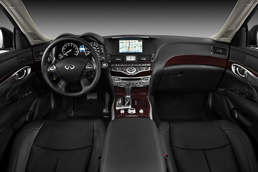 AUT 30 IZ1294 01 © Kimball Stock 2013 Infiniti M37S Sedan Blue Interior Detail In Studio