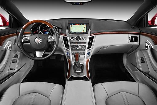 2013 Cadillac Cts Coupe Premium Red Interior Detail In Studio