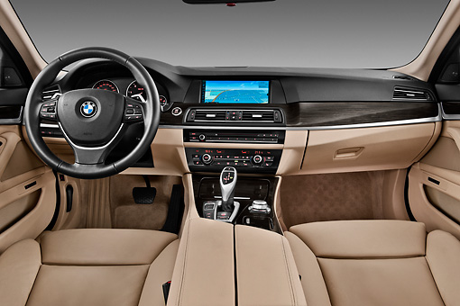 2011 Bmw 5 Series Wagon Black Interior Detail In Studio
