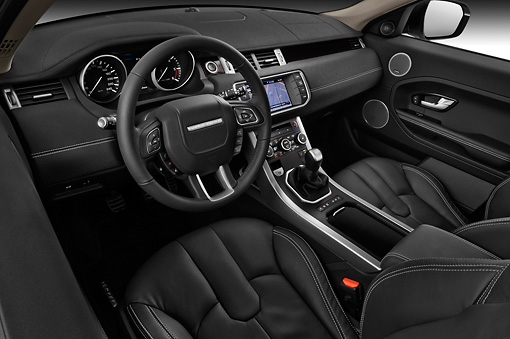 Range Rover Evoque Black With White Interior