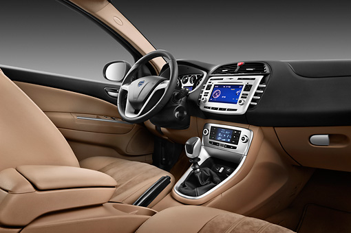 2011 Lancia Delta Gold 5 Door Interior Detail In Studio | Kimballstock