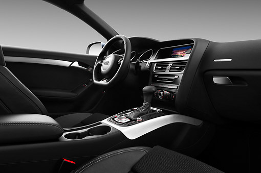 AUT 30 IZ1689 01 © Kimball Stock 2012 Audi A5 S Line Coupe Blue Interior Detail In Studio