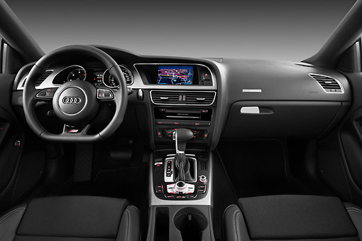 AUT 30 IZ1696 01 © Kimball Stock 2012 Audi A5 S Line Coupe Blue Interior Detail In Studio