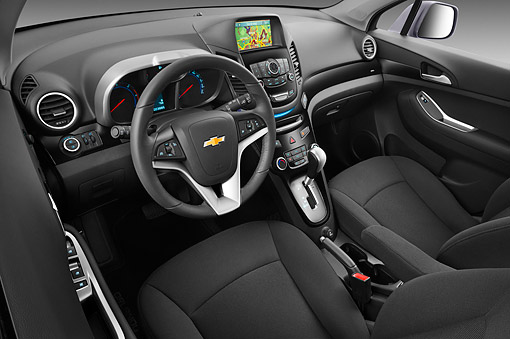 AUT 30 IZ1744 01 © Kimball Stock 2013 Chevrolet Orlando LTZ+ MPV Purple Interior Detail In Studio