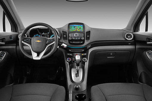 AUT 30 IZ1746 01 © Kimball Stock 2013 Chevrolet Orlando LTZ+ MPV Purple Interior Detail In Studio
