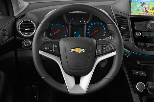AUT 30 IZ1747 01 © Kimball Stock 2013 Chevrolet Orlando LTZ+ MPV Purple Interior Detail In Studio