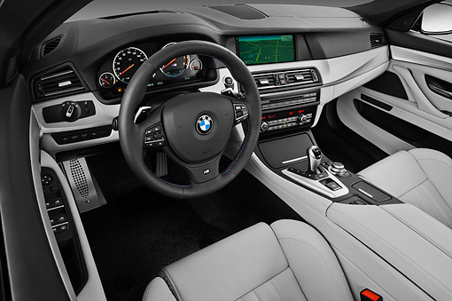 AUT 30 IZ1749 01 © Kimball Stock 2013 BMW M5 Gray Interior Detail In Studio