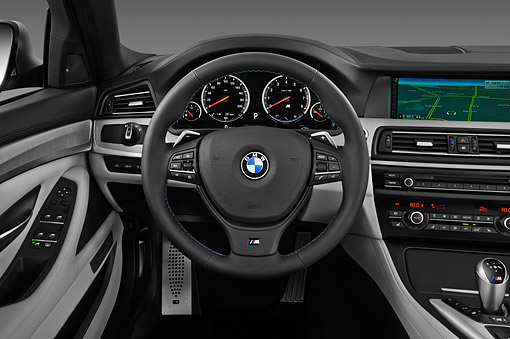 AUT 30 IZ1750 01 © Kimball Stock 2013 BMW M5 Gray Interior Detail In Studio
