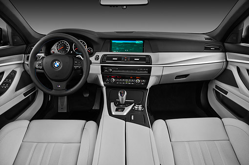 AUT 30 IZ1751 01 © Kimball Stock 2013 BMW M5 Gray Interior Detail In Studio
