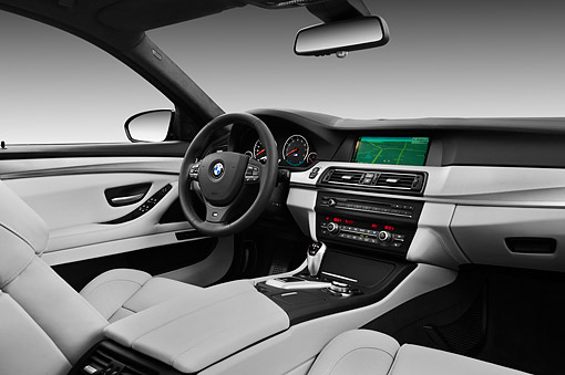 AUT 30 IZ1752 01 © Kimball Stock 2013 BMW M5 Gray Interior Detail In Studio