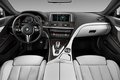 AUT 30 IZ1758 01 © Kimball Stock 2013 BMW M6 Coupe Gray Interior Detail In Studio