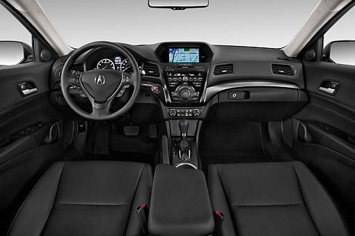 AUT 30 IZ1773 01 © Kimball Stock 2014 Acura ILX Technology Package 4-Door Sedan Interior Detail