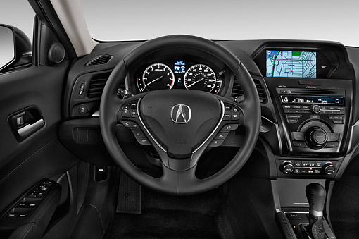 AUT 30 IZ1776 01 © Kimball Stock 2014 Acura ILX Technology Package 4-Door Sedan Interior Detail