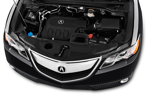 AUT 30 IZ1787 01 © Kimball Stock 2014 Acura RDX Technology Package Engine Detail
