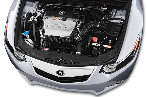 AUT 30 IZ1796 01 © Kimball Stock 2014 Acura TSX 5-Speed 4-Door Sedan Engine Detail