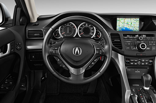 AUT 30 IZ1799 01 © Kimball Stock 2014 Acura TSX 5-Speed 4-Door Sedan Interior Detail