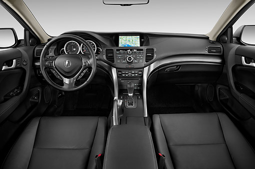 AUT 30 IZ1802 01 © Kimball Stock 2014 Acura TSX Sport Wagon Technology Package 5-Speed Automatic Interior Detail