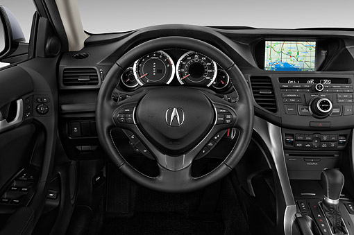 AUT 30 IZ1803 01 © Kimball Stock 2014 Acura TSX Sport Wagon Technology Package 5-Speed Automatic Interior Detail