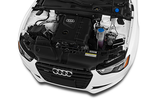 AUT 30 IZ1804 01 © Kimball Stock 2014 Audi A5 2.0t Quattro Manual Premium 2-Door Coupe Engine Detail