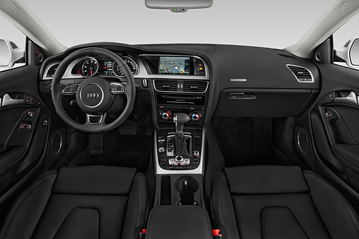 AUT 30 IZ1806 01 © Kimball Stock 2014 Audi A5 2.0t Quattro Manual Premium 2-Door Coupe Interior Detail