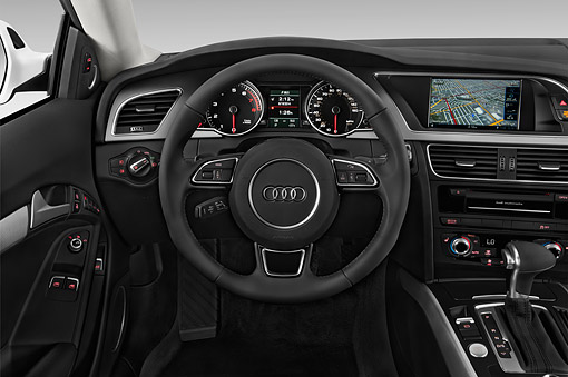 AUT 30 IZ1807 01 © Kimball Stock 2014 Audi A5 2.0t Quattro Manual Premium 2-Door Coupe Interior Detail