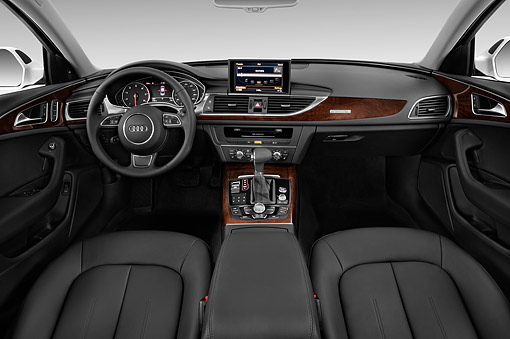 AUT 30 IZ1810 01 © Kimball Stock 2014 Audi A6 3.0t Quattro Tiptronic Premium 4-Door Sedan Studio Interior Detail