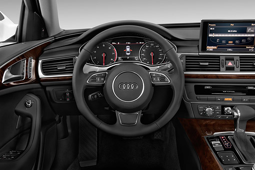 AUT 30 IZ1811 01 © Kimball Stock 2014 Audi A6 3.0t Quattro Tiptronic Premium 4-Door Sedan Studio Interior Detail