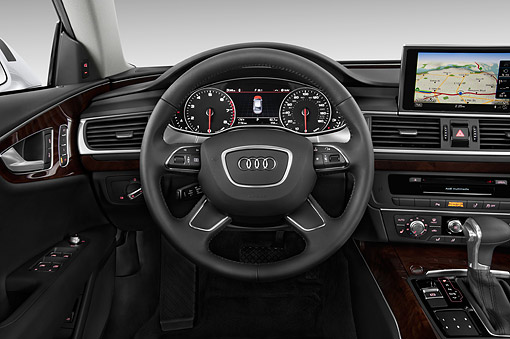 AUT 30 IZ1815 01 © Kimball Stock 2014 Audi A7 3.0t Quattro 4-Door Sedan Interior Detail