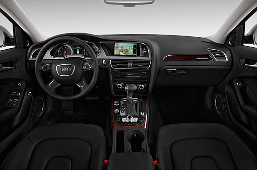 AUT 30 IZ1818 01 © Kimball Stock 2014 Audi Allroad TFSI Quattro 8-Speed Tiptronic 4-Door Wagon Interior Detail In Studio