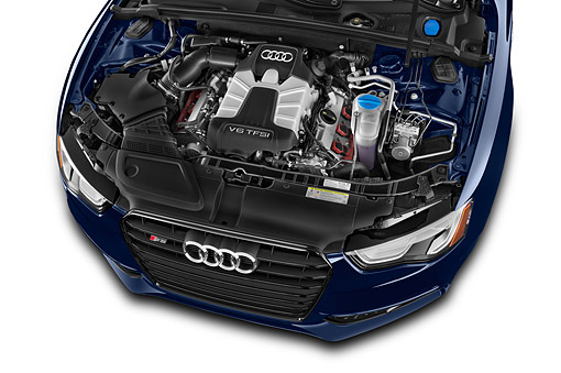 AUT 30 IZ1832 01 © Kimball Stock 2014 Audi S5 4.2 Quattro Tiptronic Premium Plus Coupe 2-Door Engine Detail