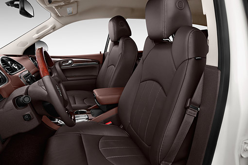 AUT 30 IZ1857 01 © Kimball Stock 2014 Buick Enclave Convenience 5-Door SUV Interior Detail
