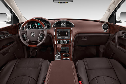 AUT 30 IZ1858 01 © Kimball Stock 2014 Buick Enclave Convenience 5-Door SUV Interior Detail