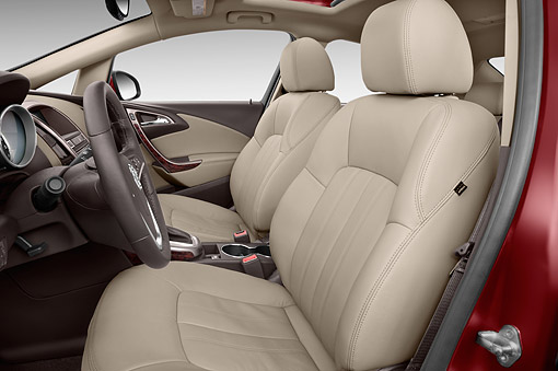 AUT 30 IZ1867 01 © Kimball Stock 2014 Buick Verano Leather Group 1SL 4-Door Sedan Interior Detail