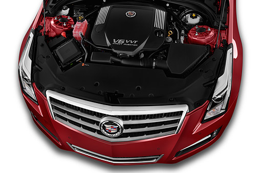 AUT 30 IZ1874 01 © Kimball Stock 2014 Cadillac ATS 2.5L Standard RWD 4-Door Sedan Engine Detail