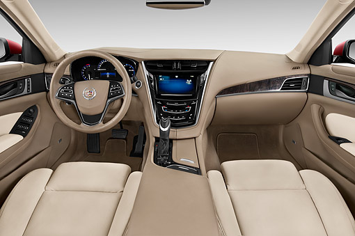 AUT 30 IZ1880 01 © Kimball Stock 2014 Cadillac CTS 3.0 RWD Luxury Collection 4-Door Sedan Interior Detail