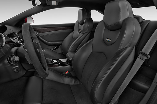 AUT 30 IZ1887 01 © Kimball Stock 2014 Cadillac CTS Coupe V RWD 2-Door Interior Detail In Studio